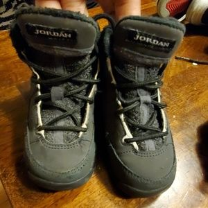 Boys jordan sneakers black grey ish baby 7c